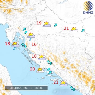 Chorvatsko aktuální počasí